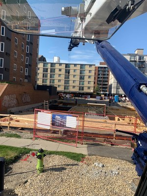 """Flat Sticking"" with a 90 Ton Grove Crane. Calgary, Alberta"