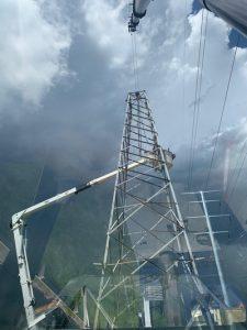 200 ton Crane removes cell tower. Calgary, Alberta